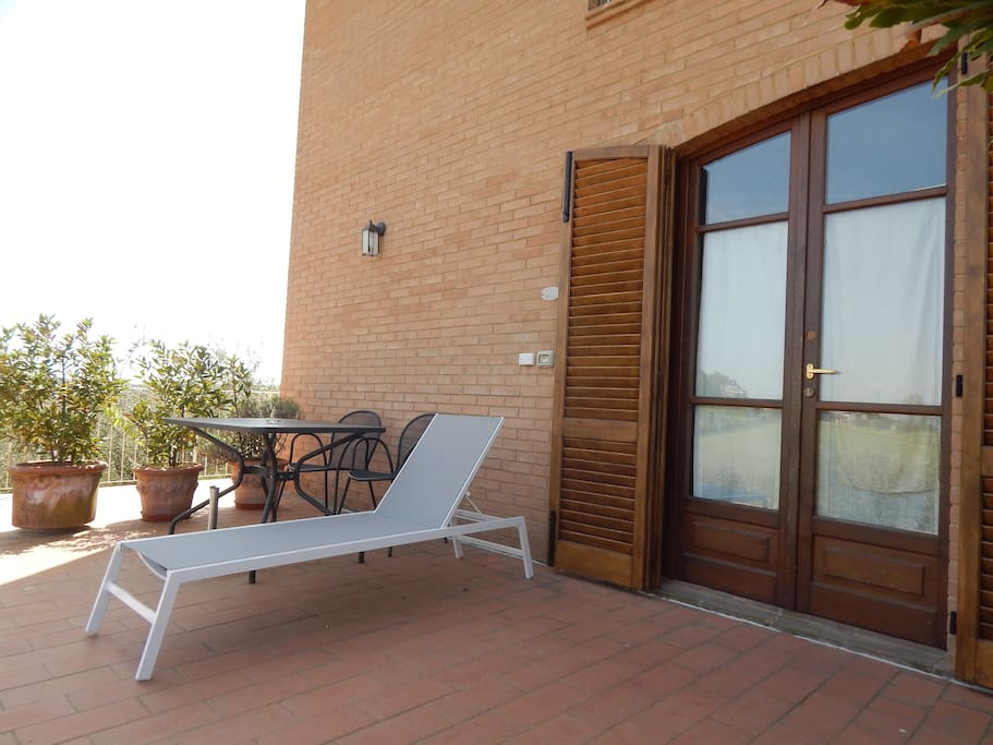 Wide spaces for relax outside the apartment