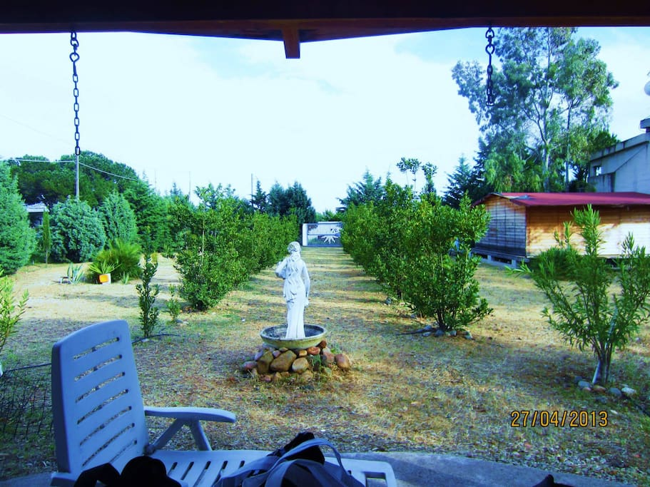 Vista al Giardino dal Patio di 50mq