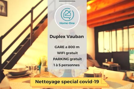 ★ DUPLEX VAUBAN ★ PARKING ★ CALME ★ Home-One