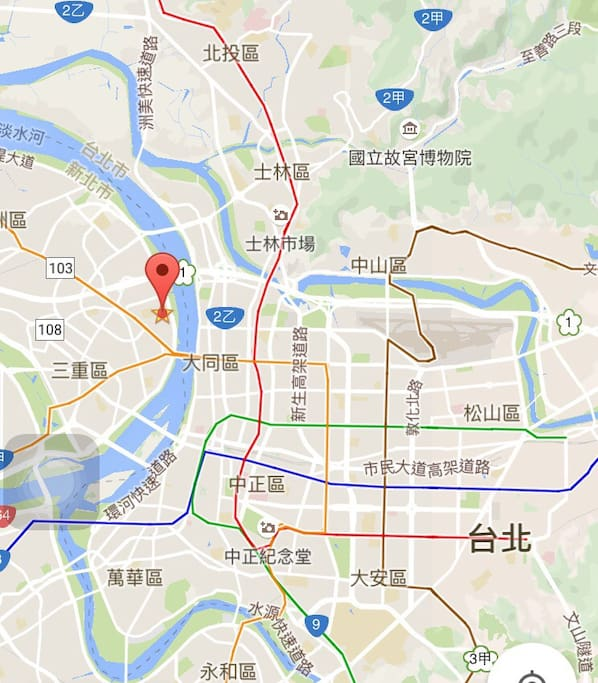 10~15 mins to Taipei main station!