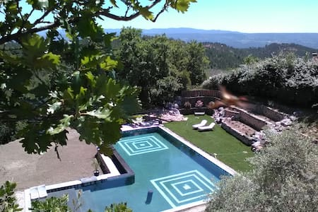 Charming B&B room VOYAGE in Roussillon, Luberon - Roussillon - Bed & Breakfast