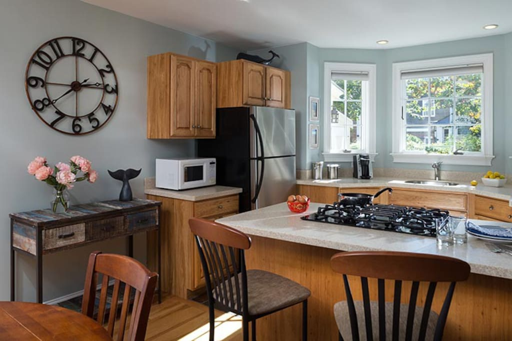 Fully-equipped kitchen  with a spacious dining area