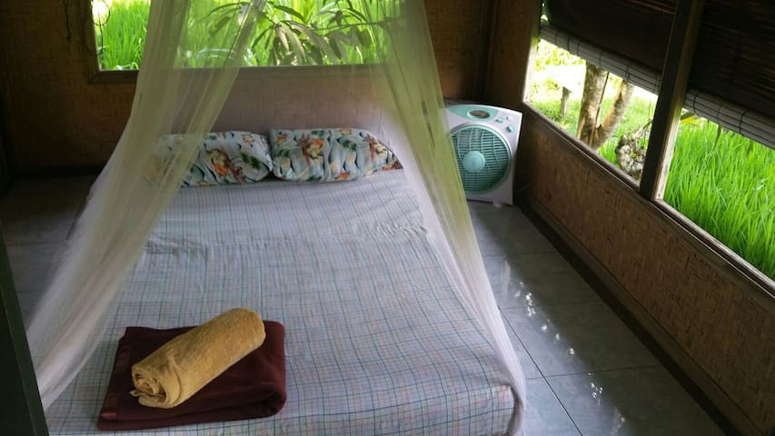 cozy bed with local stil