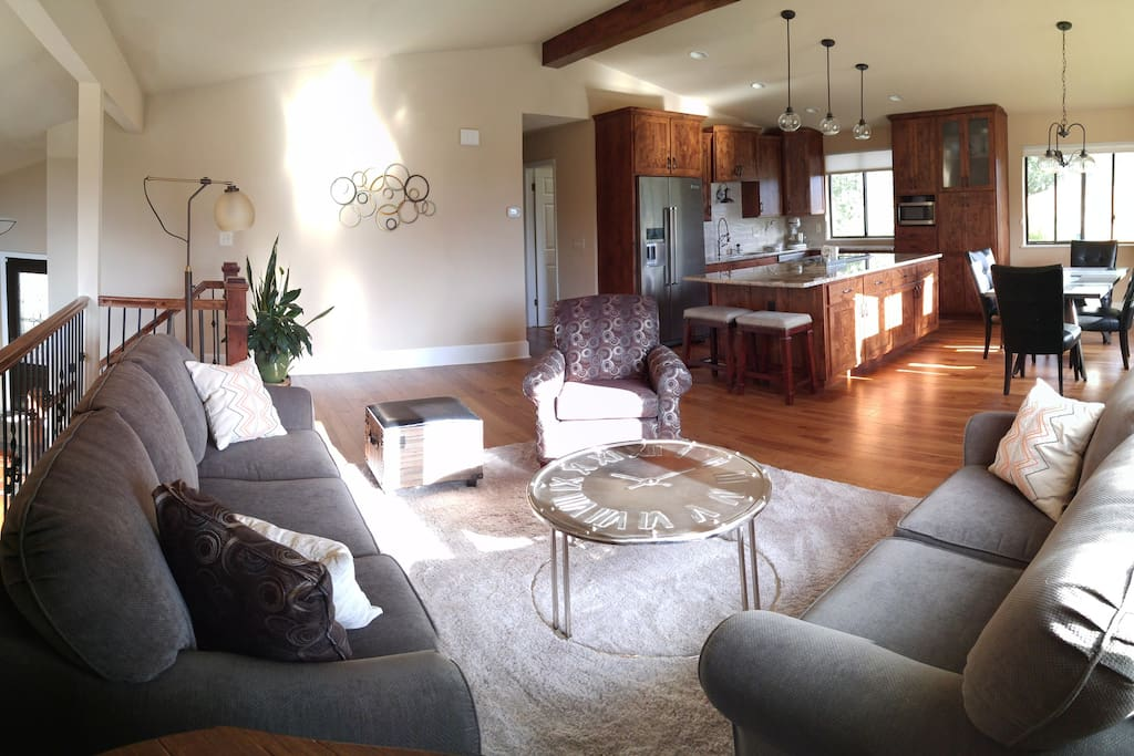 Open Concept Kitchen/Dining/Living Room where everyone can be together for story-telling and laughter