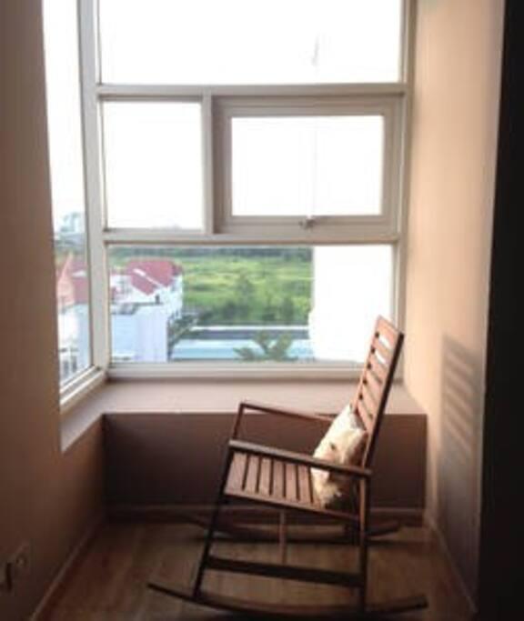 Relaxing corner in the master bedroom