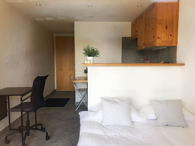 Double bed Studio in Center of Verbier w/ Terrace