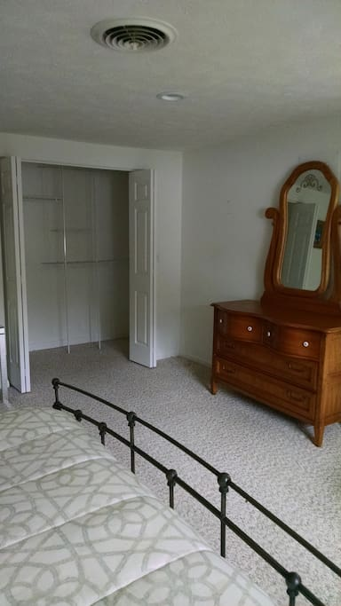 Double large closets in master bedroom