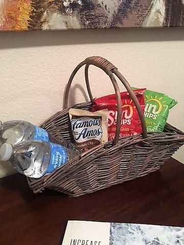 Snack basket upon your arrival