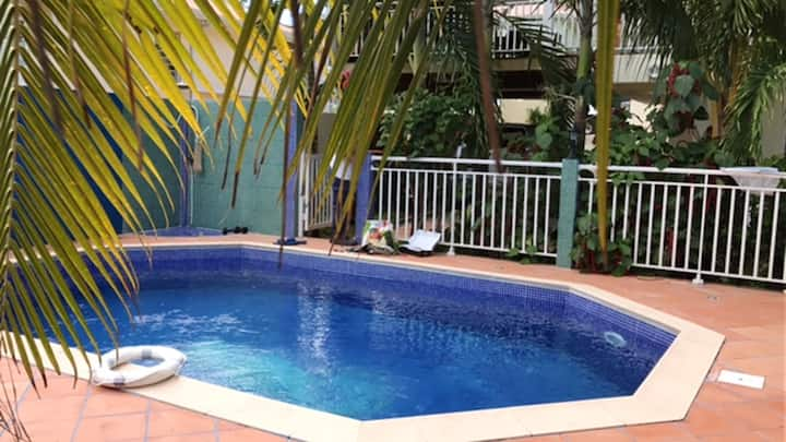 Apartment with one bedroom in Le Lamentin, with private pool, enclosed garden and WiFi - 6 km from the beach