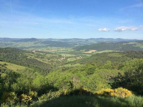 Superbe Gîte 2 ch Margeride hauteurs Val d'Allier🌞