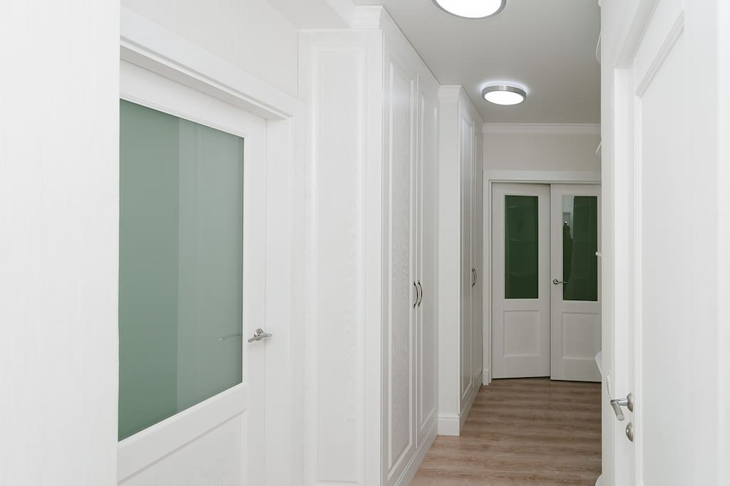 Fresh, clean, in white ton, apartment, it is necessary to please any guest