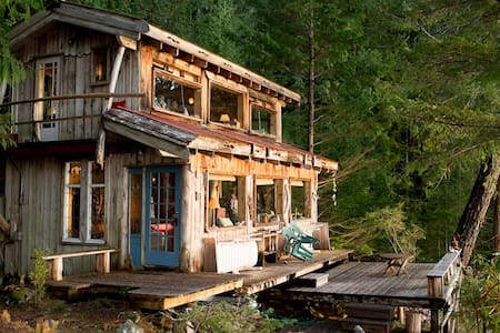 Waterfront Cabin on 10 ac, Sunsets! - Cortes Island
