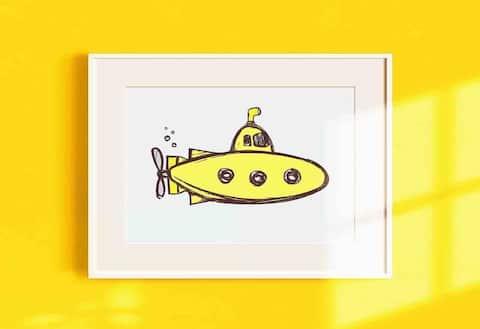 黃色潛水艇 金瓜石九份2~4人房平價包棟附廚房 無菸空間不過敏一人五百 無階梯 可停車 兒童帳篷玩具