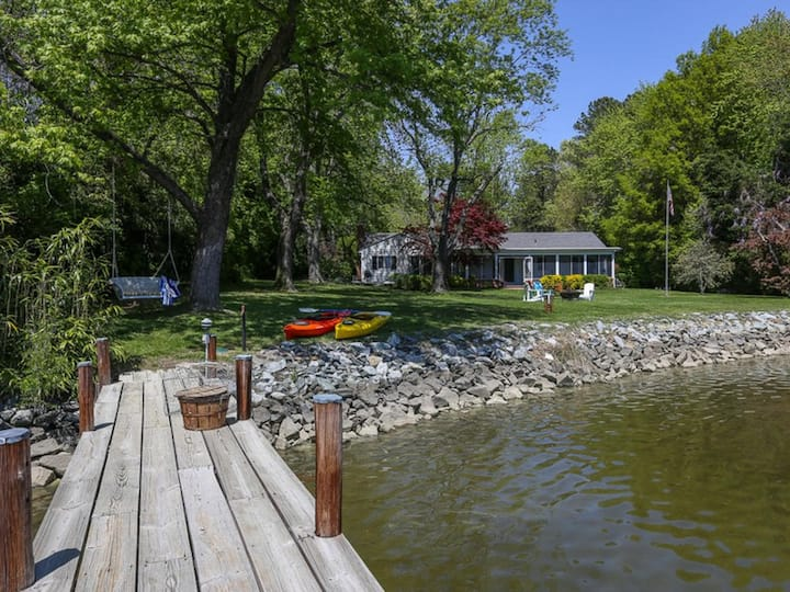 Crabber's Cove - Charming Waterfront Near St. Michaels, Kayaks & Bikes!