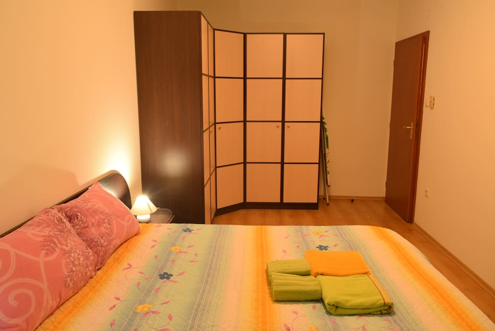 Spacious bedroom with terrace and big wardrobe