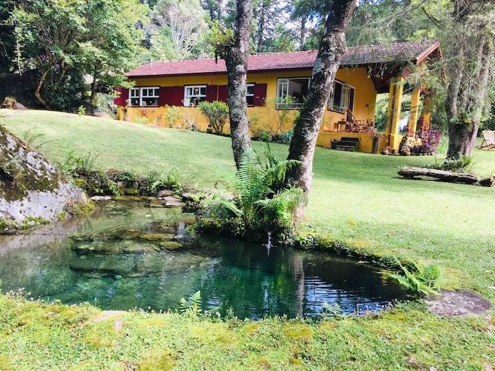Sítio Uirapurú - rio, cachoeiras, trilhas e matas