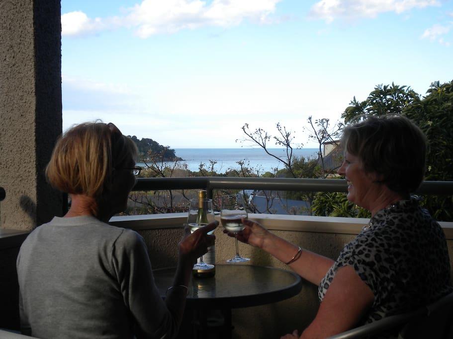On the patio Tasman room