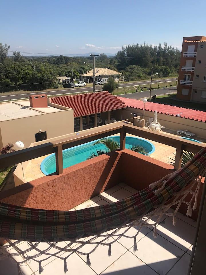 Apartamento  confortável em Capão Novo