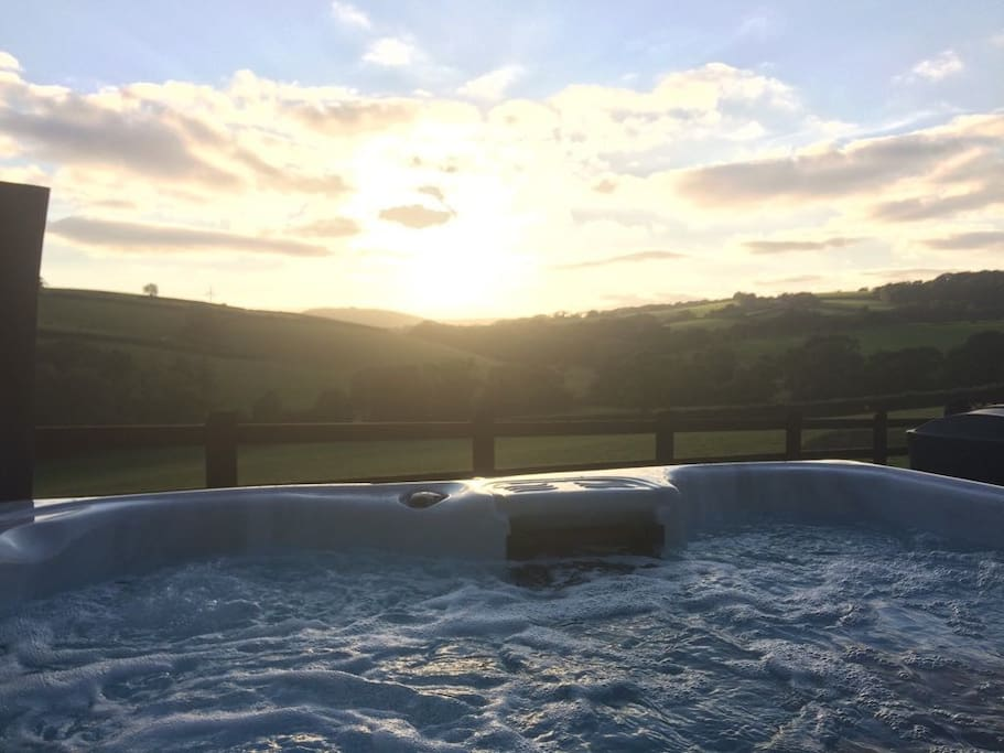 View from the hot tub over the valley