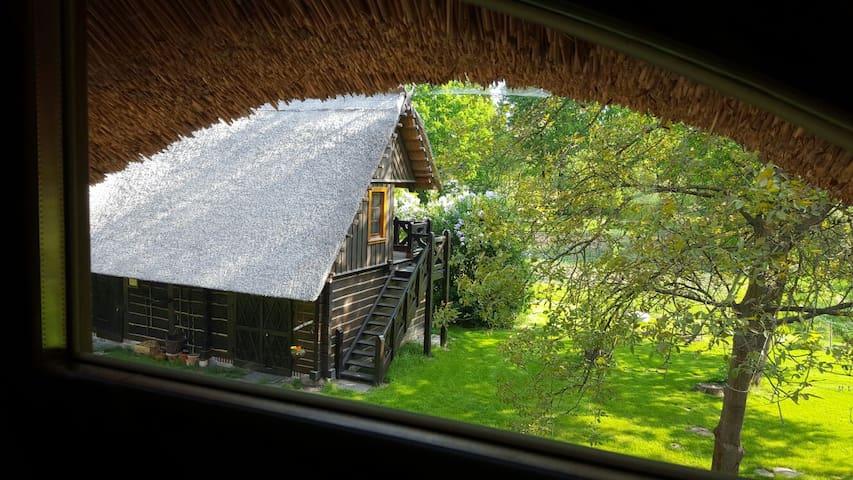 Traumhaftes Blockbohlenhaus im Spreewald am Fließ