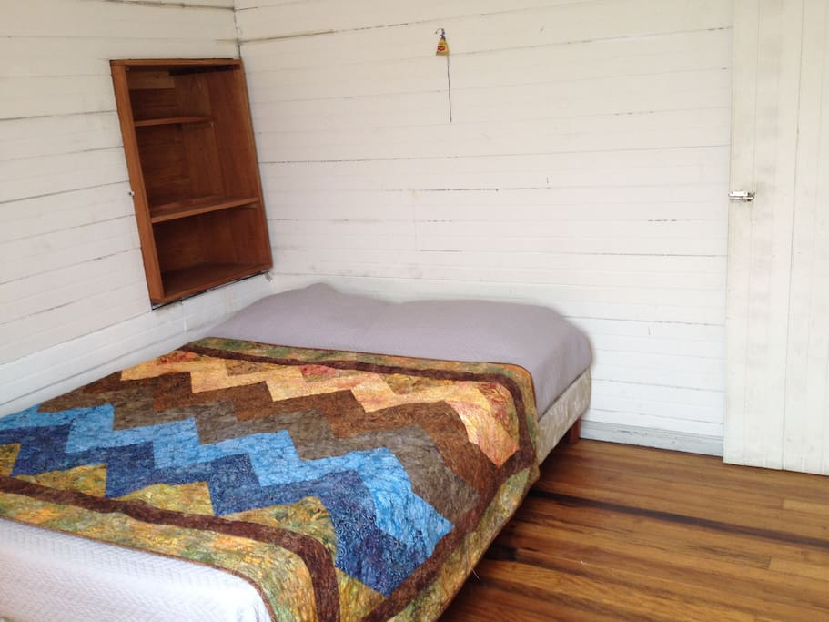Your private bedroom (2nd floor) has a comfortable double bed, a small desk and a closet