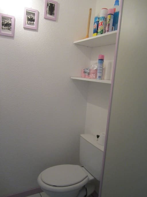 Toilettes séparées