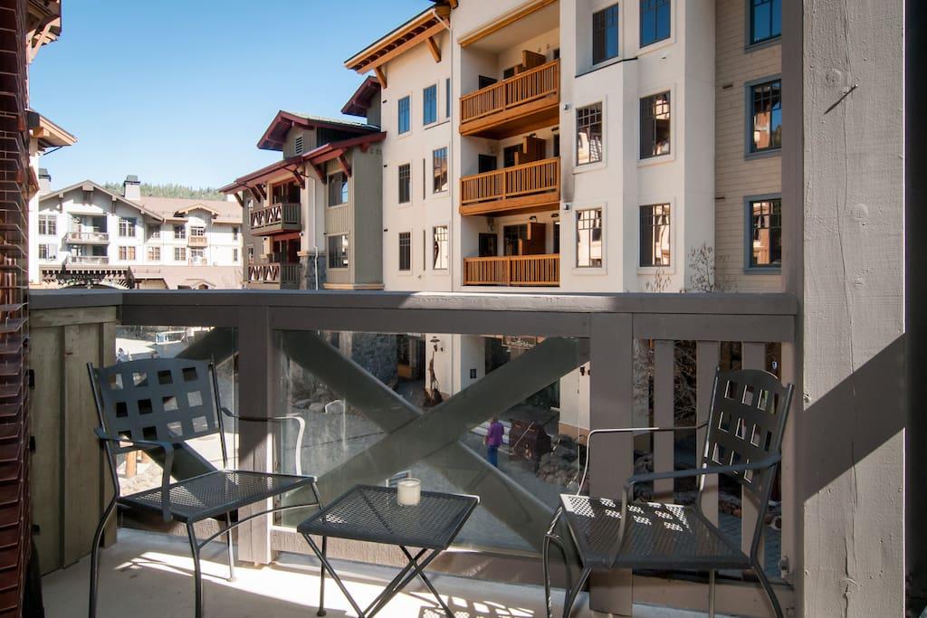 Apres ski al fresco from your own deck