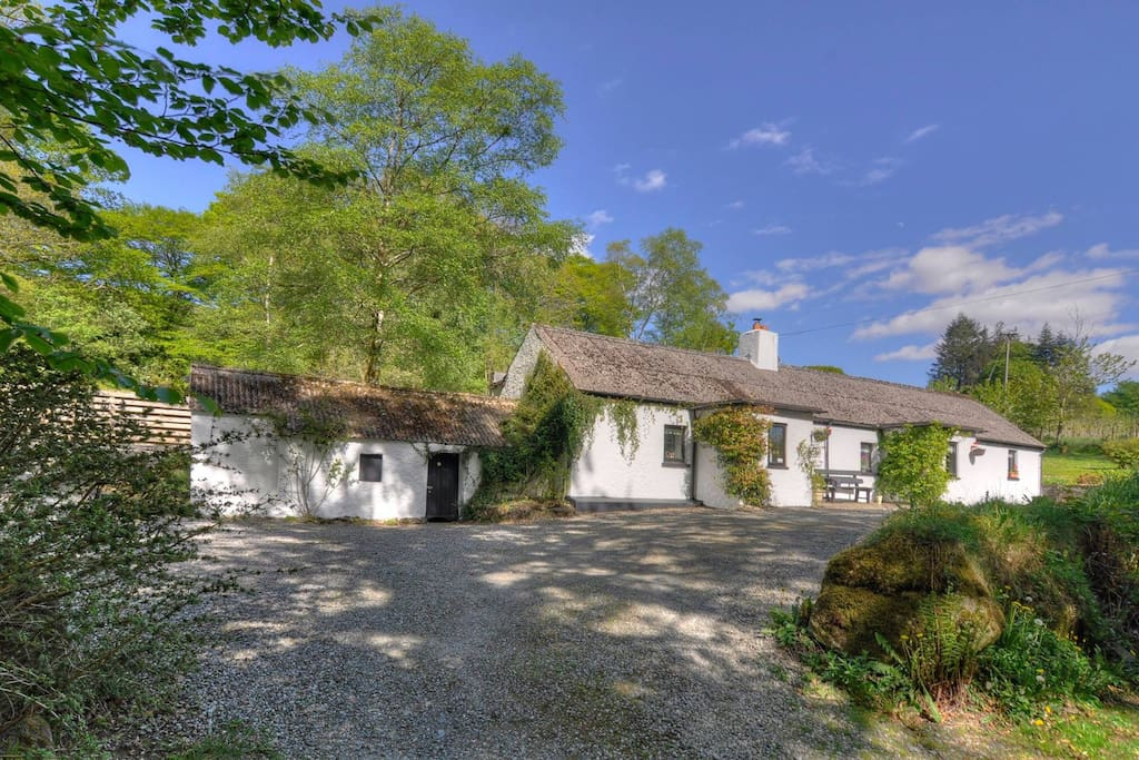 Traditional Irish cottage and lodge renovated with luxury and style in mind in the Wicklow mountains