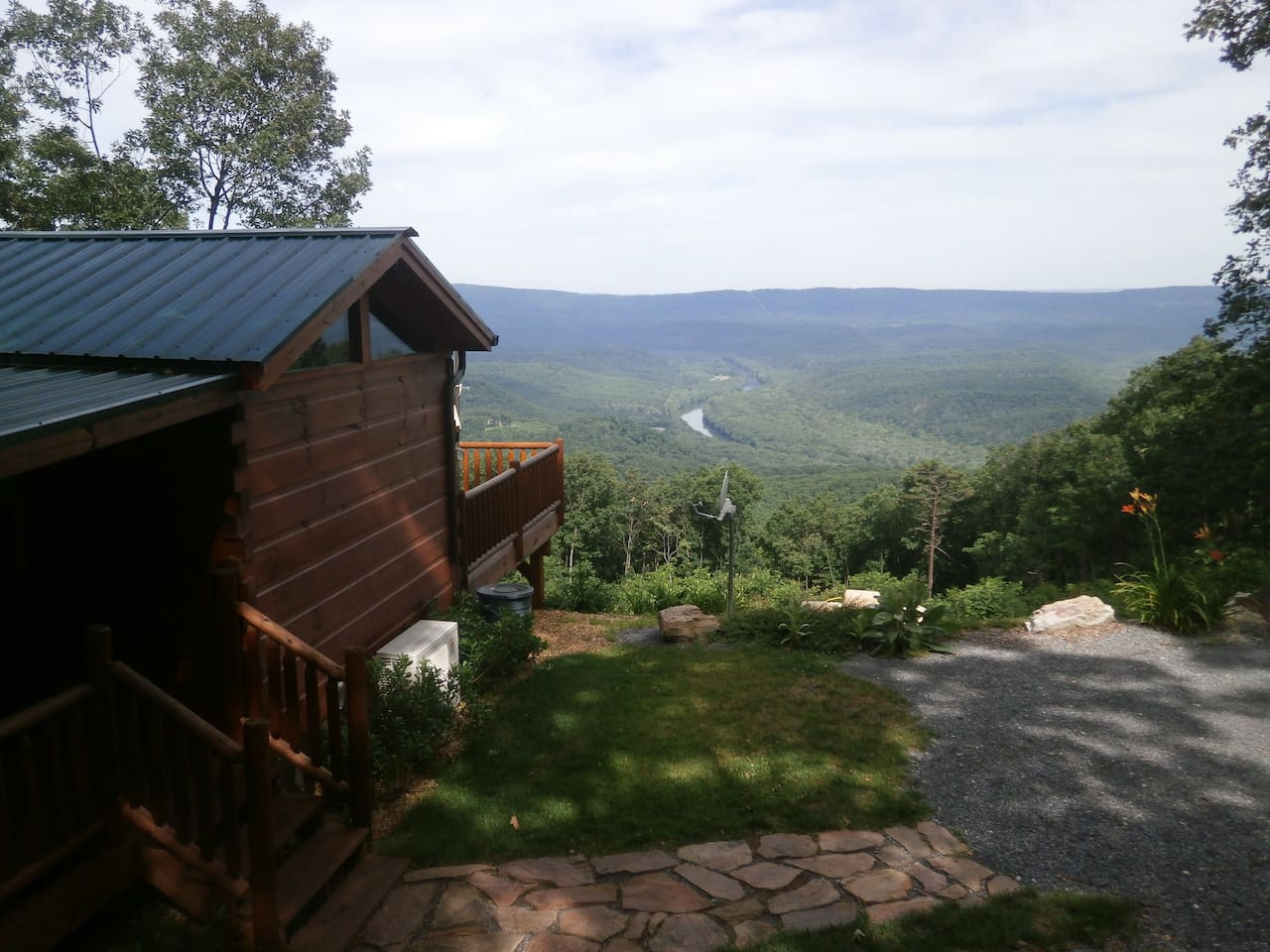 View of the Potomac River and Valley from the cabin.