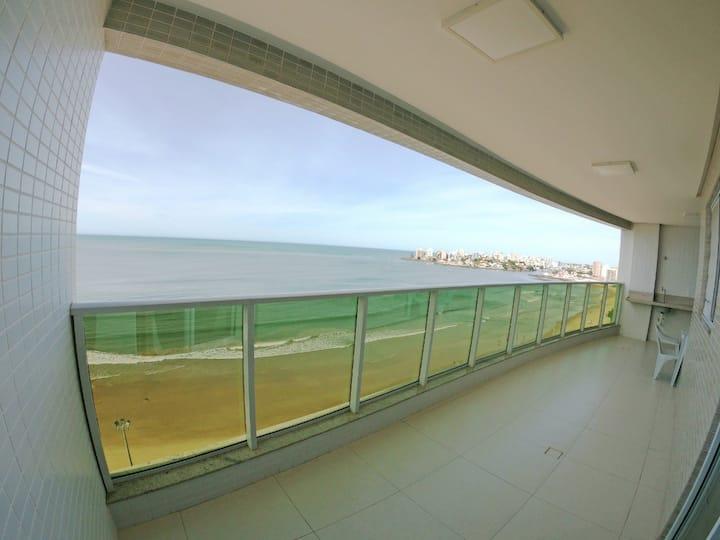 ap  guarapari frente pro mar com 3 ar condicionado