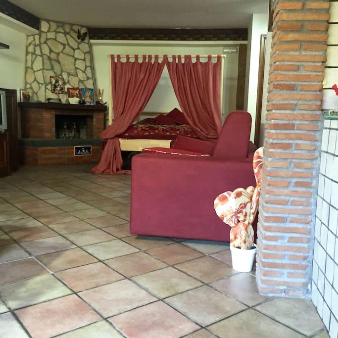 letto suite e camino