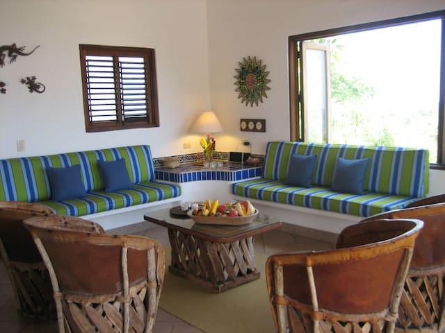 Living area inside the terrace