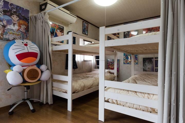 Cozy Chiba ☆No.3 - Bunk Bed Private Room & Manga