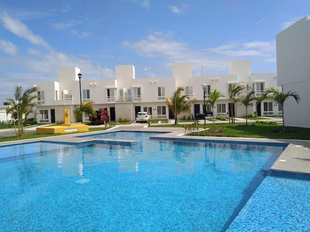 Bonita casa de vacaciones en Veracruz