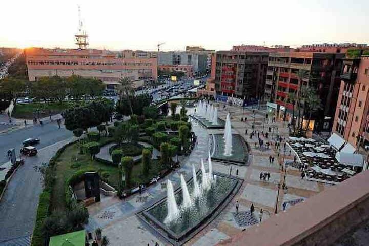 endroit centre gueliz marrakech proche de tous