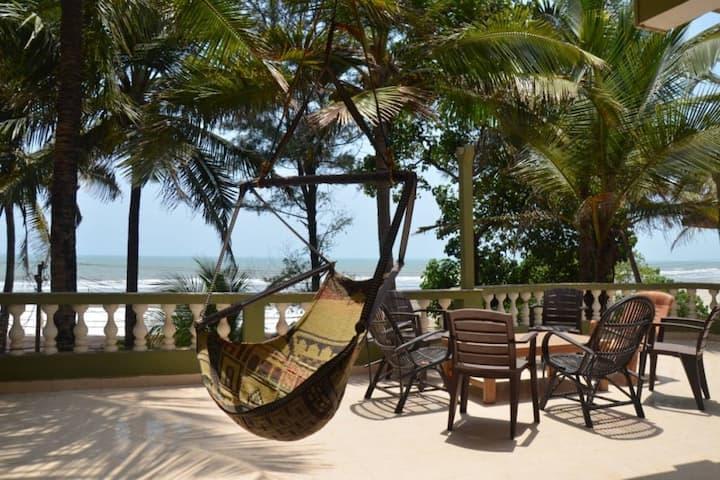 Beachfront Spacious Penthouse @ Ashvem Beache