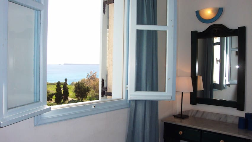 Blue and Sea room with window side sea view
