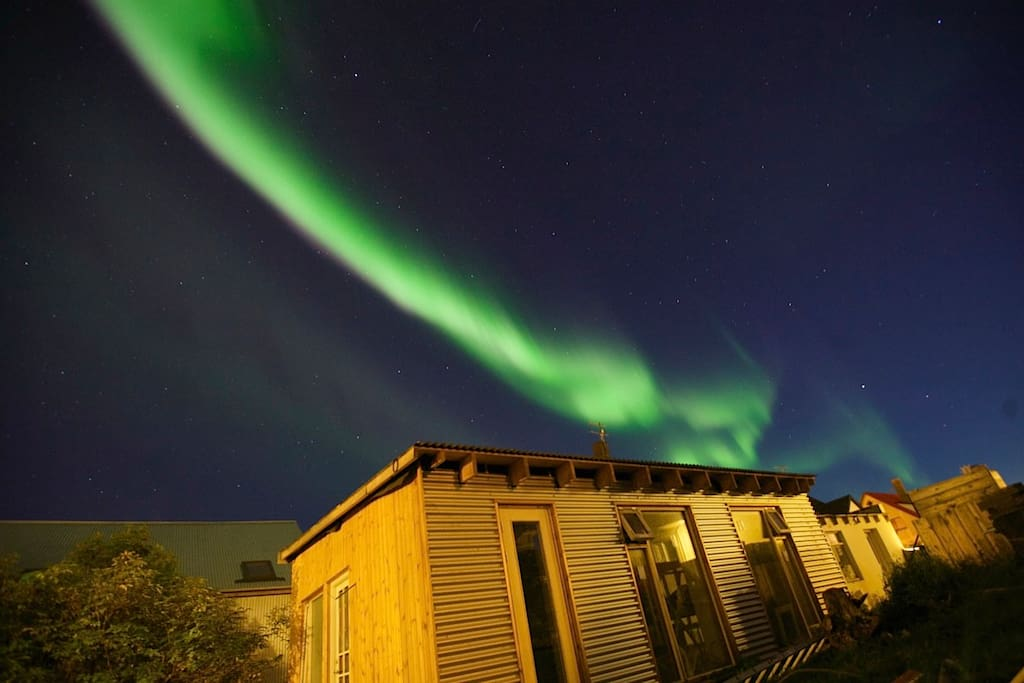 You can enjoy the northern lights right in the middle of Reykjavik