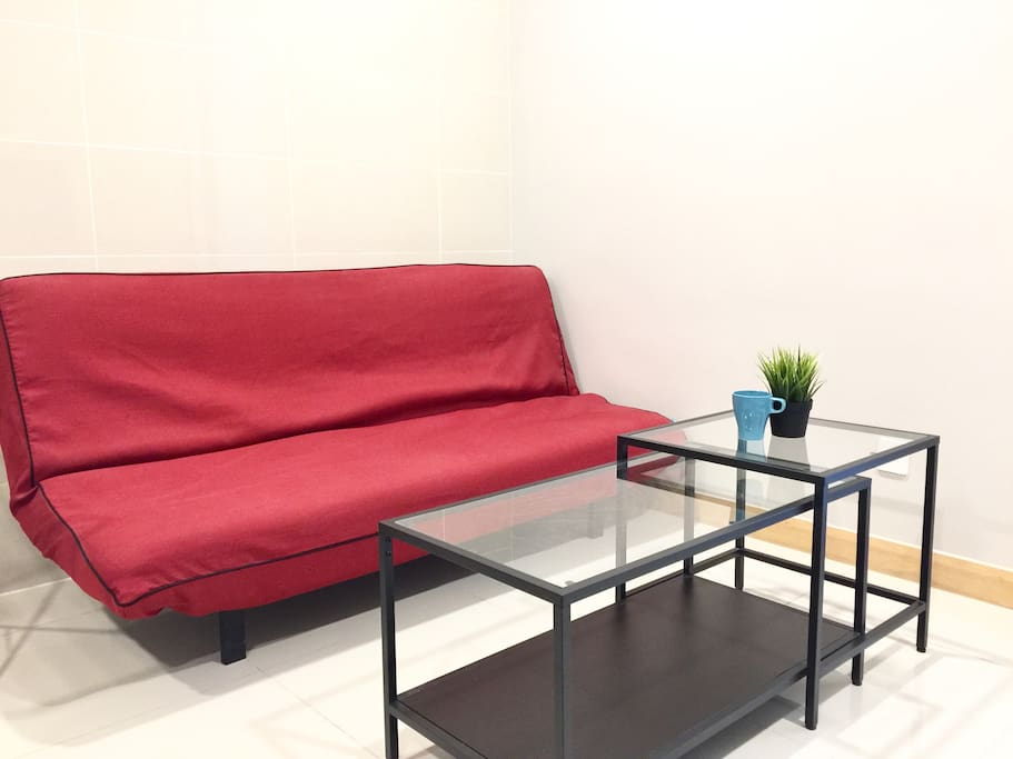 Living room with sofa bed 客厅,有沙发床
