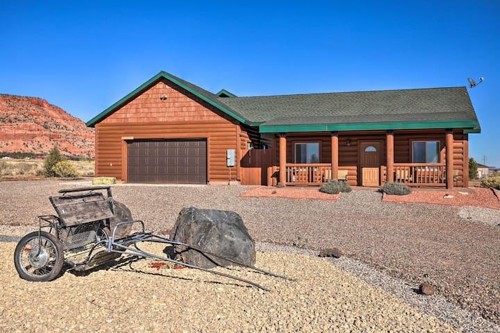 NEW! Kanab Log Cabin: Explore Zion + Sand Dunes!