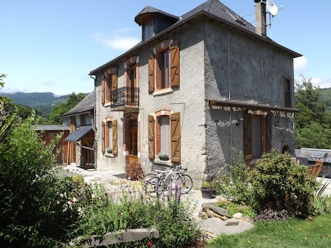 Attic suite in family home in the Ariege Pyrenees