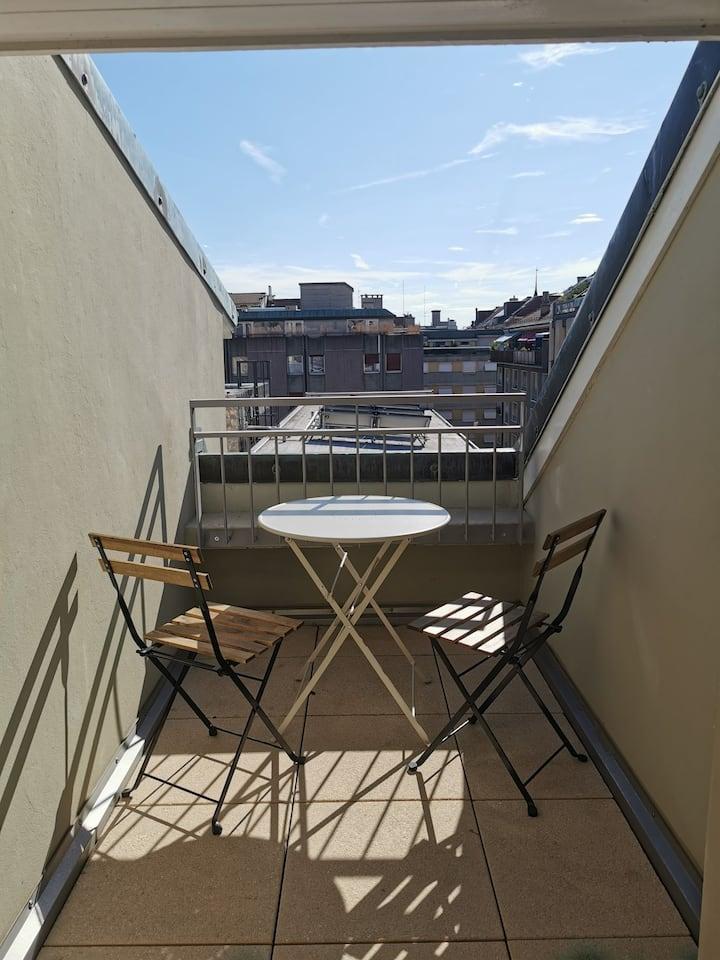 Studio-Terrace in the heart of Geneva