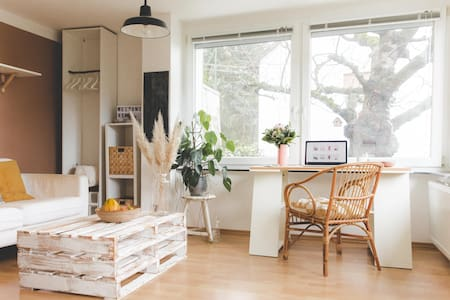 Designer flat with big garden close to Heidelberg