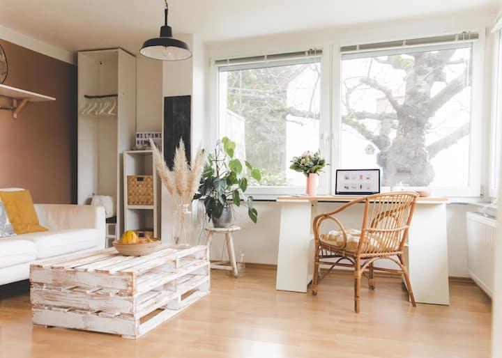 Designer flat with big garden close to Heidelberg