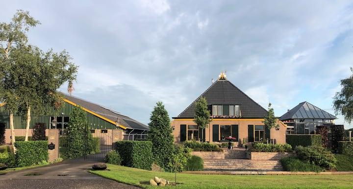 Vrij uitzicht & ruimte op het Friese platteland