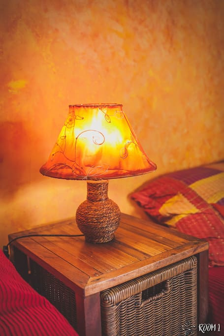 Lamp beside the bed
