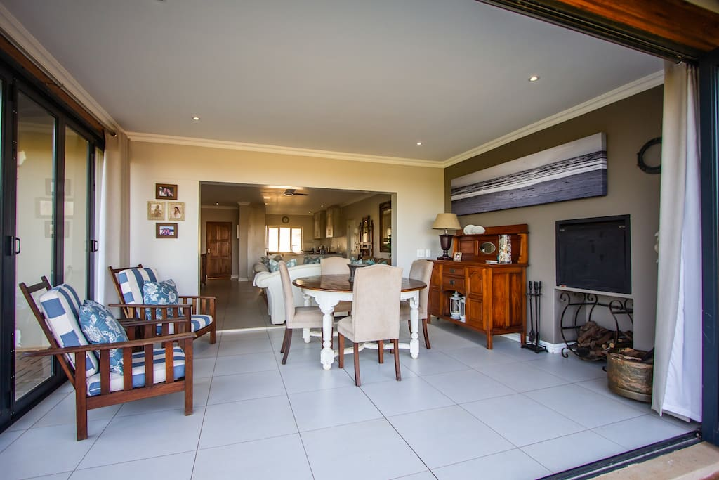 The Dining Room is equiped with a built in braai