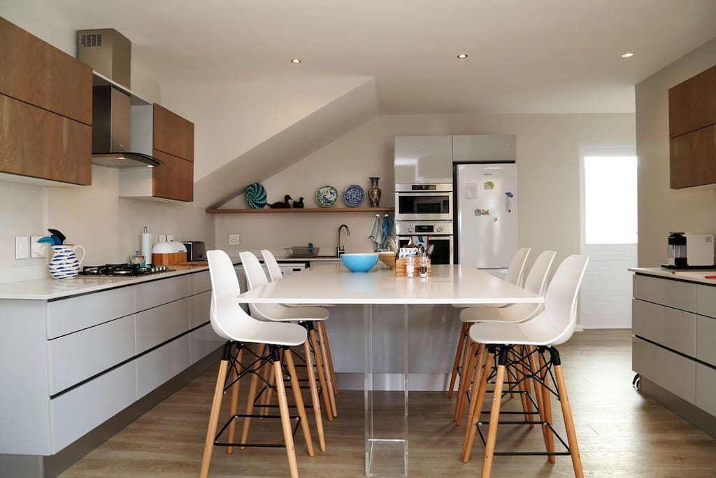The kitchen is very fully equipped, including dishwasher, full cooking facilities including a Whirlpool microwave and Nespresso cappuccino maker