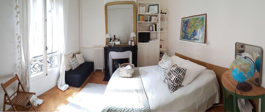 Studio-like accommodation! Bedroom + a private bathroom.