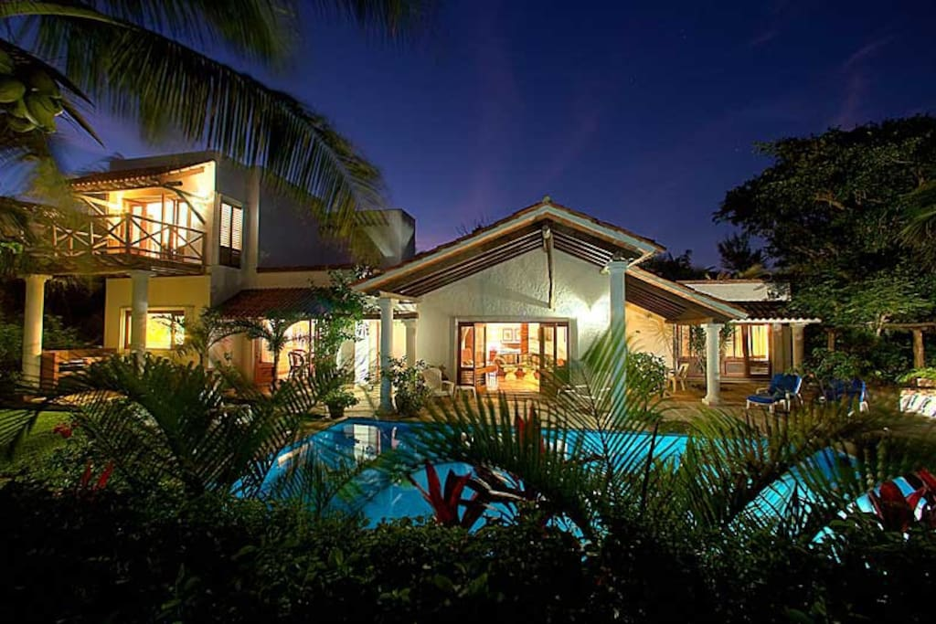 The exterior of our villa, one block off of the beach.